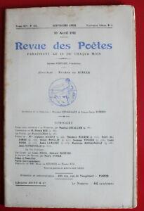 1911-Revue-des-Poetes-N-155-Firmin-Roz-Mme-A-Daudet-J-Supervielle