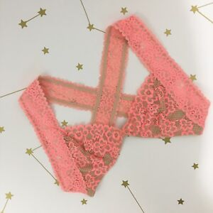 cc5ad1787a274 Free People Bra Size Small Upside Down Lace Bralette Nude Pink Lined ...