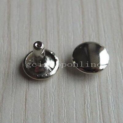 "25 50 100 300 Double Round Cap Rivet Stud 8mm 10mm 12mm 15mm 1/4"" 3/8"" 1/2"" 5/8"""