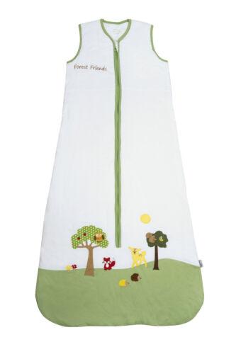 Schlummersack Baby verano saco de dormir 1,0 tog Forest Friends en 70 110cm 90