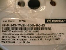 Omega Ff K 24s Twsh Shielded Thermocouple Wire Type K 24 Awg Fep Jacket 25 Feet