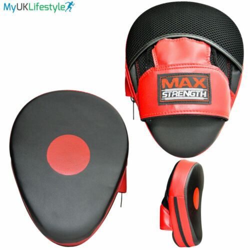 Focus pads and Boxing Gloves set Hook /& Jab Punching Training kick boxing Muay