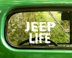 JEEP LIFE 4X4 Windshield decal sticker TRUCK Mud banner Car Jeep decals
