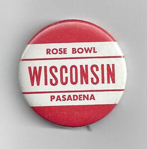 ORIGINAL 1963 Wisconsin Rose Bowl Pennant RARE