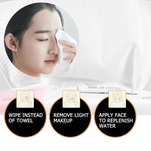 3pcs Disposable Facial Tissue Dry and Wet Wipes Cotton Face Towel Cleansing Wash