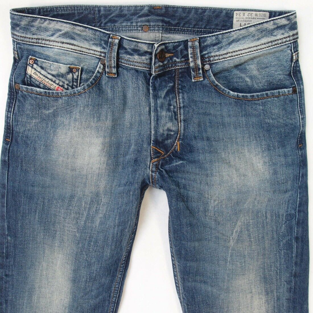 Da Uomo Diesel Larkee 0885R DRITTO REGULAR FIT blu Jeans W32 L34