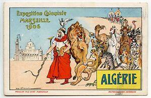 VIMAR-EXPOSITION-COLONIALE-MARSEILLE-1906-ALGERIE-ANTHROPOMORPHISME