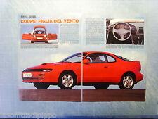 QUATTROR989-RITAGLIO/CLIPPING/NEWS-1989- TOYOTA CELICA -2 fogli