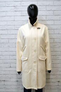 FAY-Donna-Cappotto-Lungo-Bianco-Giacca-Taglia-Size-L-Jacket-Woman-Casual-White