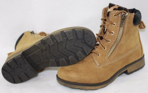 NEW Girls Youth Kids STEVE MADDEN Svetlana Synthetic Brown Leather Boots Shoes