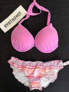 87c2f74676 Victoria's Secret NWT Bikini~Gorgeous Add 1 Cup Halter Top~Ruffle ...