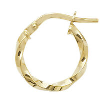 9ct Yellow Gold 375 Hoop Ladies Earrings 10MM 0.6gr *FREE UK SHIPPING* ER1008-10