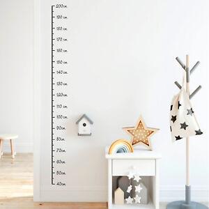 Super Wandtattoo Messlatte 40 - 200 cm Maßband Maß Größe Kinderzimmer US04