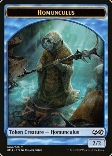 2//2 Blue MTG Magic NM Homunculus Token 10x Bodin Art