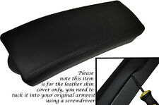 BLACK STITCHING FITS TOYOTA PRIUS T3 T4 2009-2012 LEATHER ARMREST SKIN COVER
