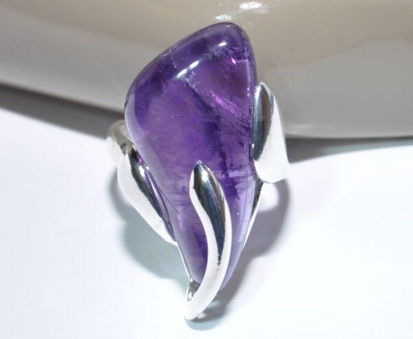925 Silber - Ring Mit Amethyst - Unikat !! Beste Preis Garantie! Exclusiv !! Top