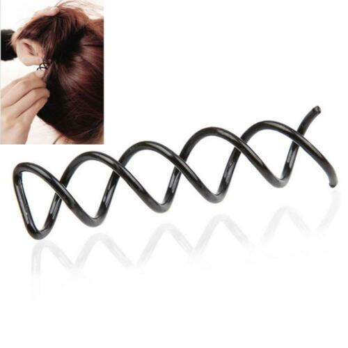 5pairs Cute Women Screw Bobby Spiral Spin Twisted Hairpin Hair Clip Barrette