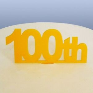 Image Is Loading 100th Birthday Cake Topper Yellow