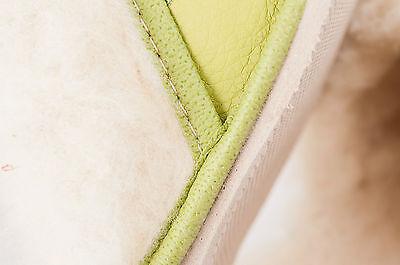 Las mujeres `s/ladies Invierno Zapatillas 100% Cuero Natural & sheepwool Tamaño: UK3,4,5,6,7,8