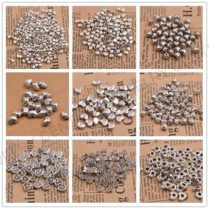 20-100PCS-Tibetan-Silver-Heart-Shape-Loose-Spacer-Bead-Jewelry-Making-DIY