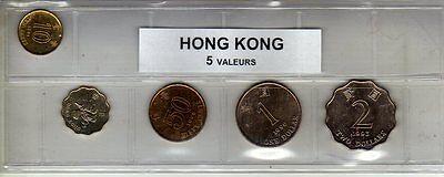 Hong Kong Série De 5 Pièces De Monnaie Goederen Van Hoge Kwaliteit