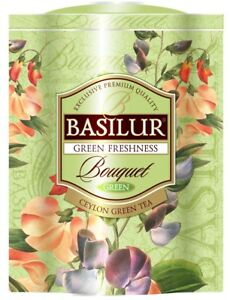Basilur Flower Green Freshness Bouquet  Green Tea, Moroccan Mint & Lemon Verbena by Basilur