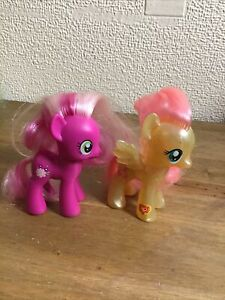 2 My Little Pony Bundle Cheerilee And Fluttershy 8cm Cute Gift /Stocking Fillers