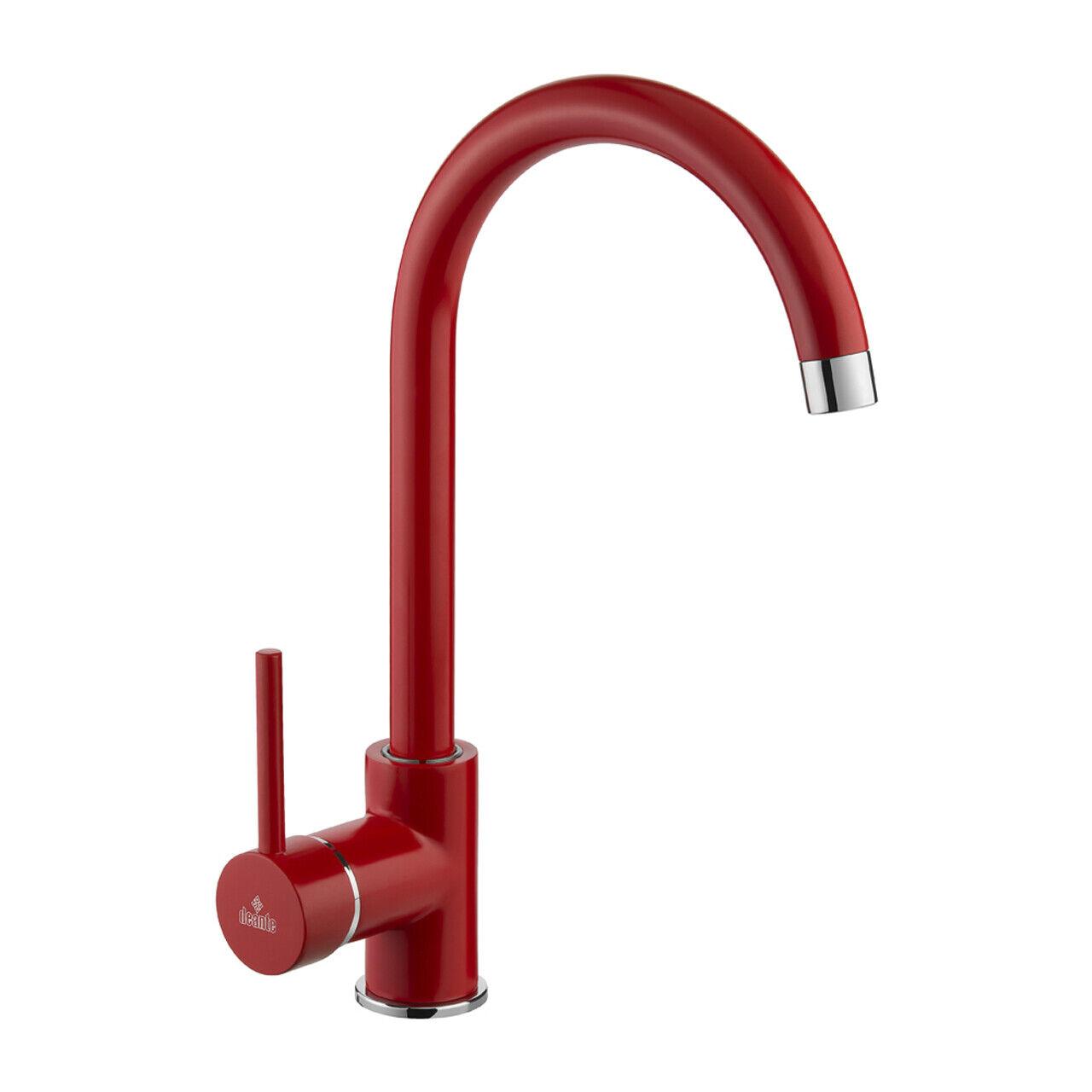 Rote Designer Designer Designer Küchenarmatur Küchen Mischer Wasserhahn mit schwenkbarem Auslauf   Angenehmes Gefühl    Hohe Sicherheit    Um Zuerst Unter ähnlichen Produkten Rang    Ausgezeichnet (in) Qualität  06dc62