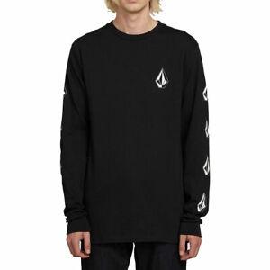 Volcom-Men-039-s-Deadly-Stones-Short-Sleeve-T-Shirt-Black-Clothing-Apparel-Tees