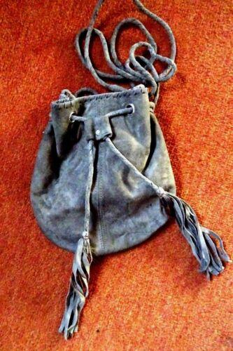 Beutelttasche De Luxe THYME for GINGER Velourleder ganz gefüttert Lederquasten