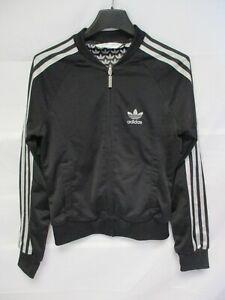 grande collection prix plus bas avec dernière collection Détails sur Veste ADIDAS TREFOIL noir argent collection sport giacca  tracktop jacket 38