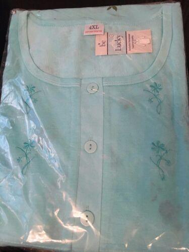 Ladies Long Sleeve Long Nightdress Nighties Nighty Cotton Rich Plus Size M 6XL