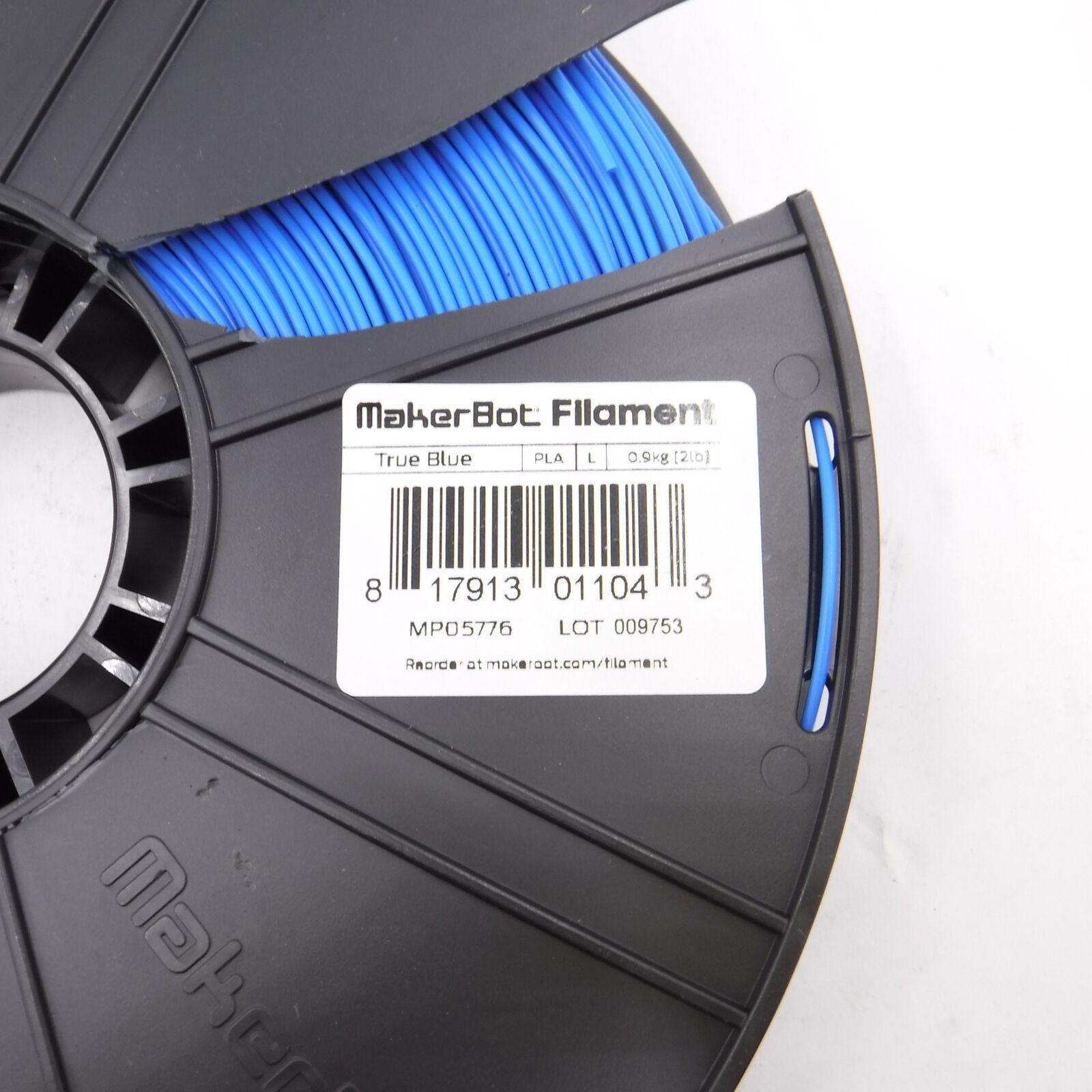 MakerBot Filament True Blue 1.75mm PLA 2lb Large Spool MP05776