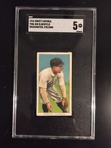 1909-1910 T206 Kid Elberfeld (Wash., Fielding).Sweet Caporal SGC 5 Nice!!!