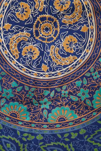 Twin Hippie Indian Tapestry Blue Mandala Throw Wall Hanging Gypsy Boho Bedspread