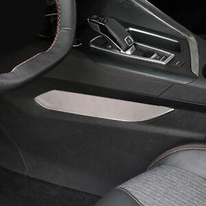 Silber-Gang-Paneel-Seite-Abdeckleiste-2-Stueck-fuer-Peugeot-3008-GT-2016-2018
