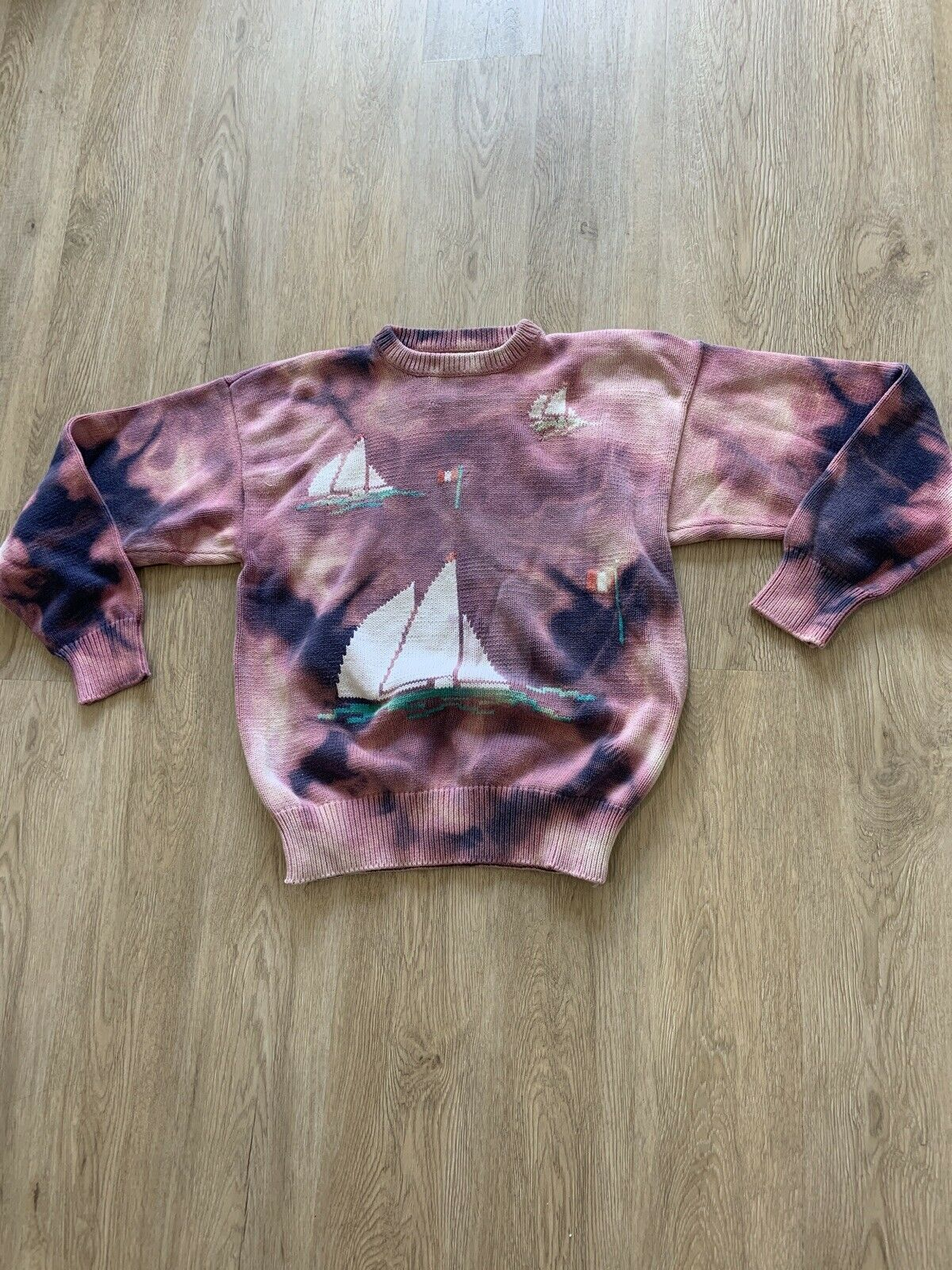 Tiedye Tie Dye Sweater VINTAGE - image 2