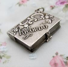 MEDAILLON BUCH Charm 800 Silber RICORDO - SOUVENIR - Anhänger - PENDANT