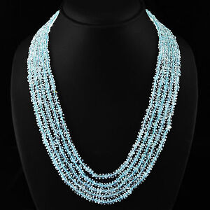 RARE-375-20-CTS-NATURAL-5-STRAND-RICH-BLUE-AQUAMARINE-FACETED-BEADS-NECKLACE