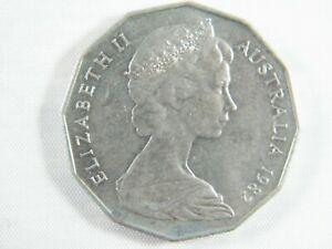 Moneda-50-Centavos-Australia-1982-Elizabeth-II-World-Coins
