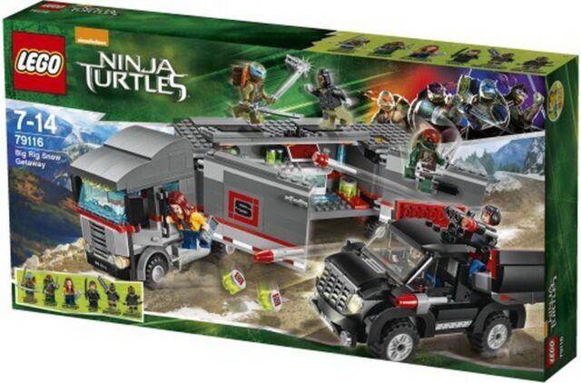 Lego Tortues Ninja 79116 Gros Rig Des Neiges Getaway