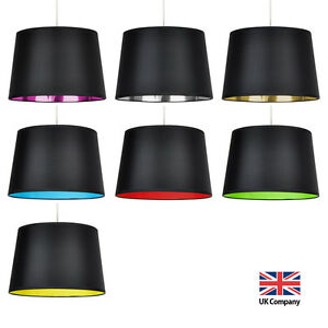 Modern Black Ceiling Table or Floor Lamp Light Shade Lampshade
