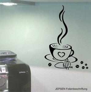 Cafe-Aufkleber-25x12cm-M10-Wandtattoo-Kaffee-Tasse-Kueche-Buero-Coffee-Tattoo