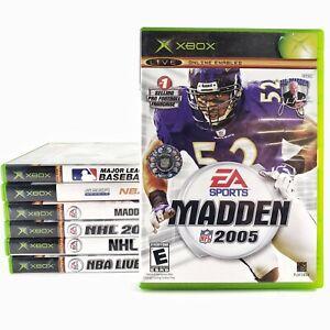 LOT 7 XBOX Games MADDEN 2005 2006 sega NBA 2k2 NHL NBA LIVE 2005 major league