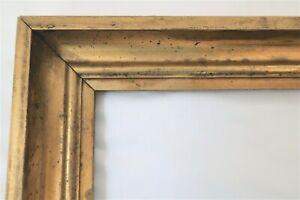 ANTIQUE FIT 8 X 10 LEMON GOLD GILT PICTURE FRAME WOOD FINE ART COUNTRY PRIMITIVE