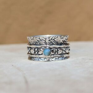 Opal-Ring-925-Sterling-Silver-Spinner-Ring-Meditation-Ring-Statement-Jewelry-B92