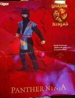 The Original Shadow Ninjas Child Costume Panther Ninja Size 7-8