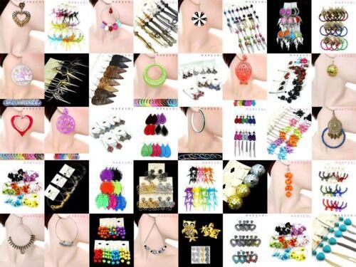 NEW LOT 10 FASHION EARRINGS Hoop Dangle Rings Necklaces Bracelets Bangles Mixed