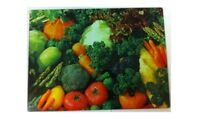 GLASS CHOPPING CUTTING BOARD WORKTOP SAVER FRUIT VEGETABLE KITCHEN FOOD BOARD