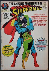 Superman-243-FN-VF-7-0-Classic-Neal-Adams-Cover-DC-Comics-Bronze-Age-1971